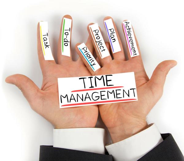 Gerenciar seu tempo é fundamental.